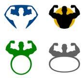 Emblema do homem forte Imagem de Stock Royalty Free