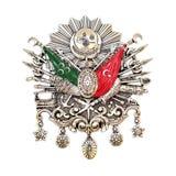 Emblema do império otomano, (símbolo turco velho) imagens de stock