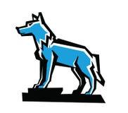 Emblema do lobo do vetor Imagens de Stock