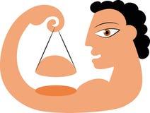 Emblema do logotipo do halterofilismo da aptidão Ilustração Stock