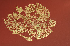 Emblema do ouro da Federação Russa o Foto de Stock Royalty Free