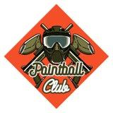 Emblema do paintball do vintage da cor Foto de Stock Royalty Free