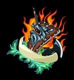 Emblema do protetor da besta ilustração royalty free