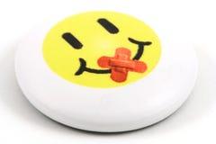 Emblema do smiley Foto de Stock Royalty Free