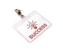 Emblema do sucesso fotografia de stock royalty free