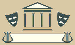 Emblema do teatro Fotos de Stock