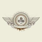 Emblema do terno do clube ilustração royalty free