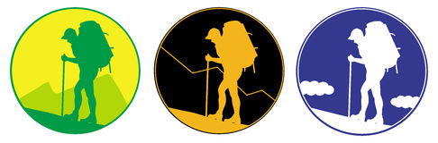 Emblema do turista Imagens de Stock Royalty Free