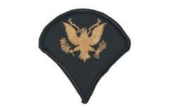 Emblema do uniforme do exército dos EUA imagem de stock royalty free
