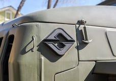 Emblema do veículo militar do caminhão de Ural do russo fotos de stock royalty free