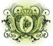 Emblema do vetor Fotografia de Stock