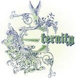 Emblema do vetor Imagens de Stock