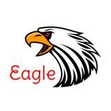 Emblema do vetor de Eagle Ícone de grito do falcão Fotos de Stock Royalty Free