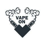 Emblema do vetor do cigarro eletrônico Fotos de Stock