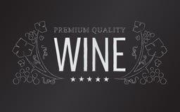 Emblema do vinho do giz do vetor Imagens de Stock Royalty Free