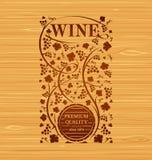 Emblema do vinho do vetor Foto de Stock Royalty Free