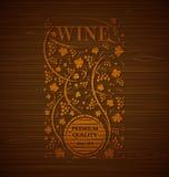 Emblema do vinho do vetor Imagens de Stock Royalty Free