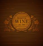 Emblema do vinho do vetor Fotografia de Stock