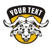 Emblema do vintage do búfalo Fotografia de Stock Royalty Free