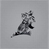 emblema do vintage no fundo do metal Fotografia de Stock Royalty Free