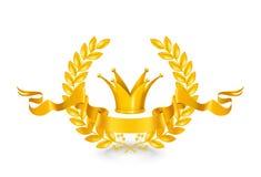 Emblema do vintage, ouro Imagens de Stock