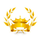 Emblema do vintage, ouro Fotos de Stock Royalty Free