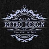 Emblema do vintage, projeto do rerto Fotos de Stock