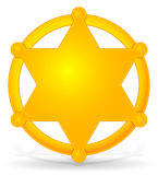 Emblema do xerife ilustração do vetor
