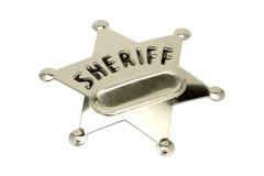Emblema do xerife imagens de stock