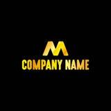 Emblema dorato della lettera Immagini Stock