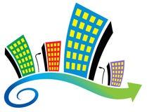Emblema dos bens imobiliários Imagens de Stock Royalty Free