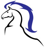 Emblema dos cavalos Imagem de Stock Royalty Free