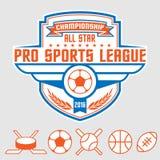 Emblema dos esportes ilustração royalty free