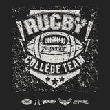 Emblema e ícones do futebol americano da equipe da faculdade Imagens de Stock Royalty Free