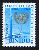 Emblema e ponte do UN imagens de stock royalty free