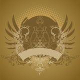 Emblema, elemento di disegno Fotografia Stock