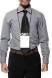 Emblema em branco no torso imagem de stock