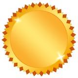Emblema en blanco del oro Fotos de archivo libres de regalías