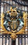 Emblema en Buckingham Palace Imagen de archivo