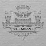 Emblema, estilo medieval Fotografía de archivo libre de regalías
