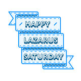 Emblema feliz del saludo del día de fiesta de Lazarus Saturday Fotografía de archivo libre de regalías