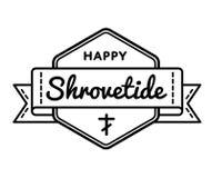 Emblema feliz del saludo del día de fiesta de Shrovetide Imagen de archivo libre de regalías