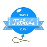 Emblema feliz del saludo del día de padres libre illustration
