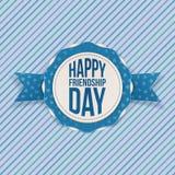Emblema feliz del saludo del día de la amistad Fotografía de archivo libre de regalías