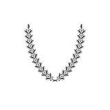 Emblema floral de Laurel Wreath criado na forma de V Revestimento heráldico de ilustração do vetor