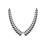 Emblema floral de Laurel Wreath criado na forma de V Revestimento heráldico de ilustração stock