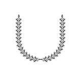 Emblema floral de Laurel Wreath Lo decorativo da brasão heráldica ilustração stock