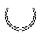 Emblema floral de Laurel Wreath Lo decorativo da brasão heráldica ilustração do vetor