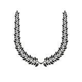 Emblema floral de Laurel Wreath Lo decorativo da brasão heráldica ilustração royalty free