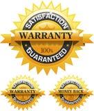 Emblema garantido satisfação do cliente do ouro Foto de Stock Royalty Free
